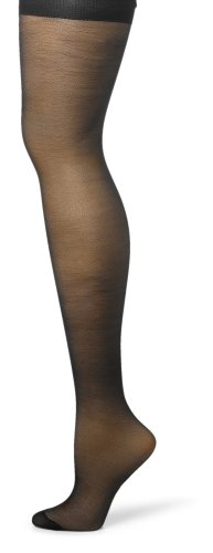 Hanes Silk Reflections Women's Silky Sheer Hosiery, Jet, CD (Pack of 3) image