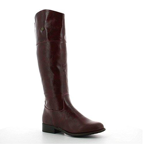 Ideal Shoes, Damen Sneaker Rot