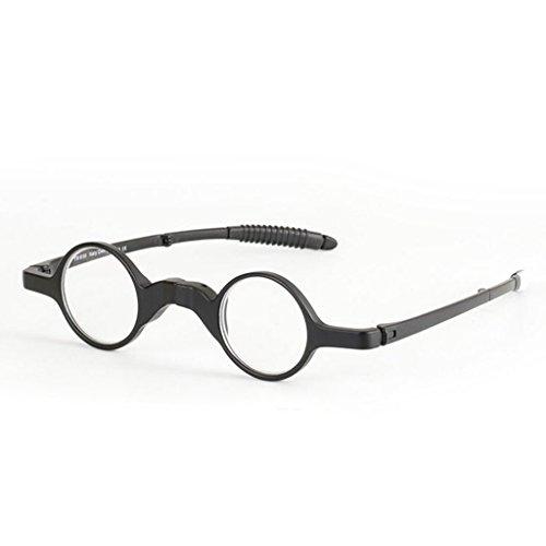 Fogun Faltbar Lesehilfe für Herren/Damen mit Etui. Runder Rahmen Klapp Brille mit,+1,0 +1,5 +2,0 +2,5, 3,0,+3,5 (1.00)