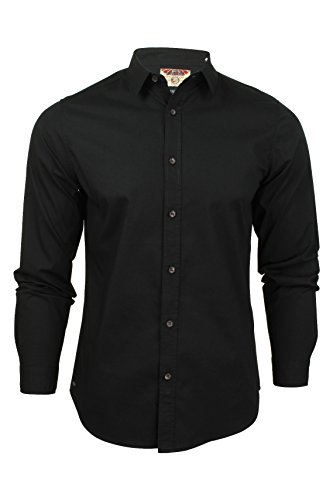 Tokyo Laundry Eastport Cotton Long Sleeve Shirt in Black M