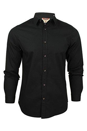 Tokyo Laundry Eastport Cotton Long Sleeve Shirt in Black M