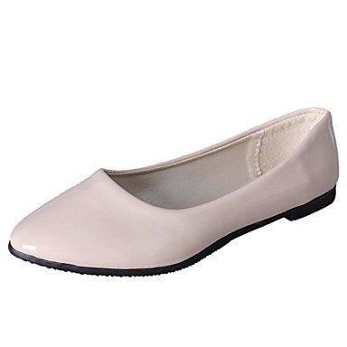 XIAMUO Nicht anpassbar - Die Frauen tanzen Schuhe aus Lackleder Lackleder Ballerinas Flachbild HeelPractice Anfänger professionelle Indoor Outdoor Schwarz