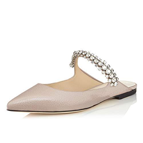 Lutalica Damen Sexy Single Strap Freizeit Komfort Kristalle Flache Sandale Schuhe Linien Nackt Größe 45