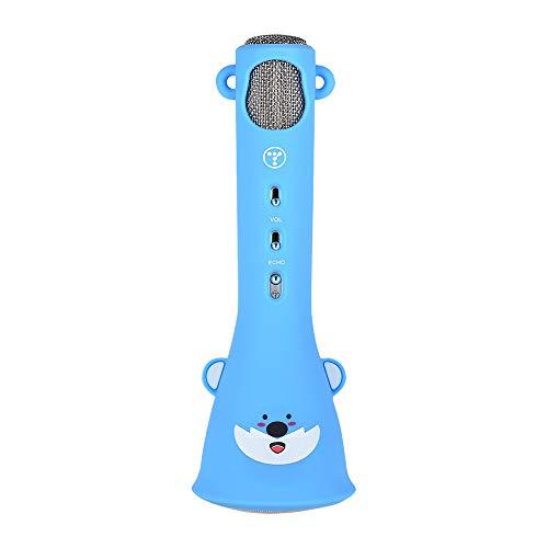 Kalaok X3 Cute Cartoon Handheld Wireless Mikrofon Mic Smartphone Karaoke Player mit Lautsprecher Eingebauter Akku für KTV Singing Home Karaoke Kids Musical Geschenk - Body Works Geschenk