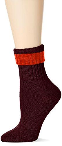 burlington-plymouth-calcetines-para-mujer-rojo-barolo-8596-36-41