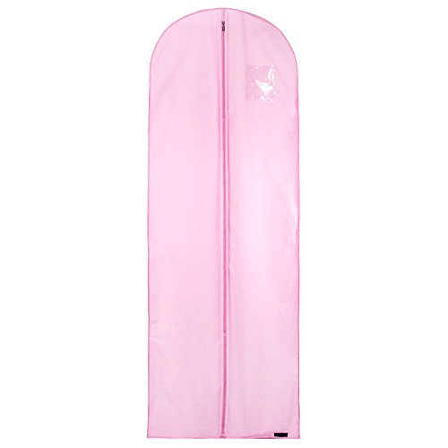 36Stück 183cm Single Regenfest und atmungsaktiv Hochzeit Kleid Brautschmuck Gewand Travel Carry Cover Tasche, pink (Petticoat Voll Bridal)