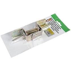10 x 4er Set Zaunhalterung Winkel Beschläge /Elementhalter für Sichtschutzzäune aus Stahl, gelb verzinkt zum günstigen Aktions Preis