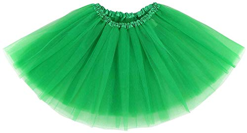 Ksnrang Damen Tütü Rock Minirock 3 Lagen Petticoat Tanzkleid Dehnbaren Mini Skater Rock Erwachsene Ballettrock für Party Halloween Kostüme Tanzen (Grün) (Tutu Erwachsene Grün)