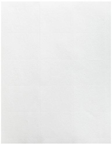 Compulabel weiße Zip-Scheibe, ablösbare Klebeetiketten für Laser- und Tintenstrahldrucker, 2 7/20 x 5 cm, 15 pro Blatt, 100 Blatt pro Karton - Continental Zip
