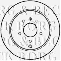 Borg /& Beck BBD4611 Brake Disc Pair Rear