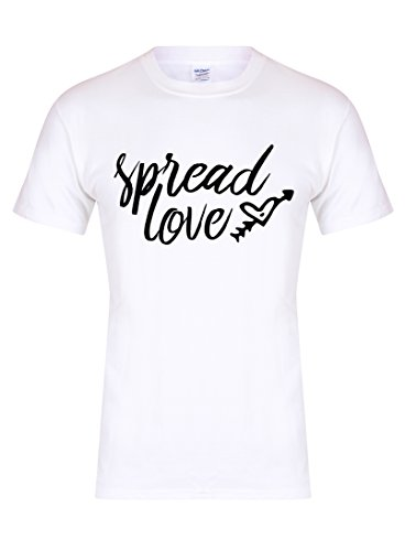 6e696f43dcc5a1 Spread Love - Unisex Fit T-Shirt - Fun Slogan tee (Youth 7-8 Yrs - Chest 16  Inches