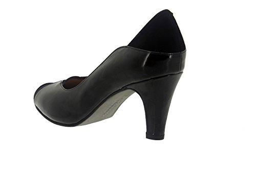Chaussure femme confort en cuir Piesanto 7205 escarpin habillé comfortables amples Noir