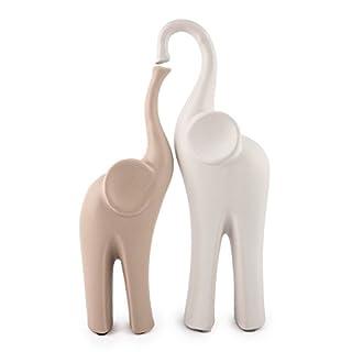 Pajoma Elefanten Set ''Matabi'' aus Keramik, L 11,5 x B8 x H 31 cm