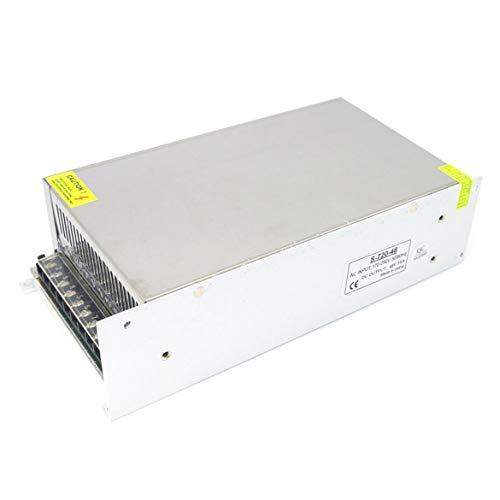 JohnJohnsen 220V AC-DC-LED-Stromversorgung mit Metallschalen DC 48V 15A 720W Schalter-Modus Versorgung praktisch und nützlich (weiß)