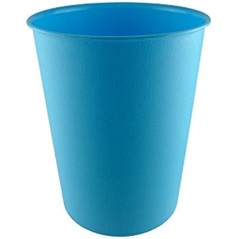 Papelera de colores Assorting–Ideal para el hogar y oficinas, de 22,5diámetro x 28cm aprox., plástico, azul, pack de 1