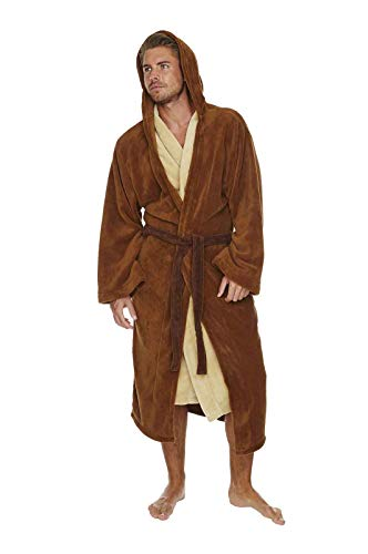 Star Wars, Jedi, accappatoio marrone e beige, Pile, Jedi Knight - Classic, One Size - Adults