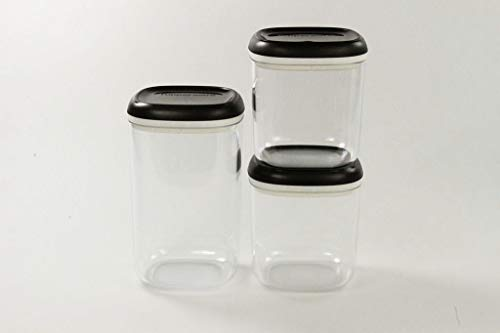TUPPERWARE Clear Collection 1,3 L + Crystal schwarz transparent 780 ml (2)