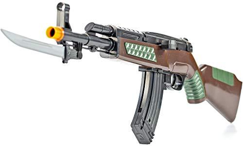 Nerd Clear Kinder Softair Gewehr mit Messer Fasching -