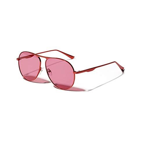 ZRTYJ Sonnenbrille Metall Frosch Spiegel Sonnenbrille Frauen Vintage Pilot Retro Big Face Big Frame Brille
