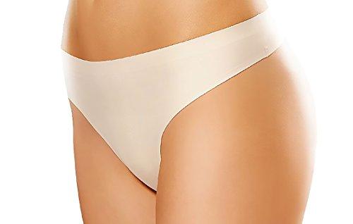 Gatta String Comfort - Underwear in Laser Cut Technology - String Short Pantie Bikini - 3er Vorteilspack - Größe L (42-44) - White-weiß (Hipster Cut Unterwäsche Laser)