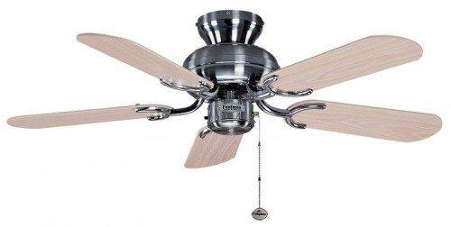 31qyvAAmD%2BL - Fantasia Capri Ceiling Fan 36in Stainless Steel