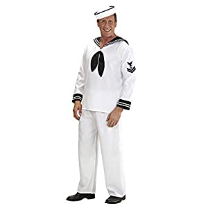 "Mens Sailor Costume Small UK 38/40"" for Sea Navy Fancy Dress"