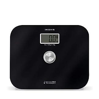 31qyvrzkwyL. SS324  - IKOHS EXIGES BLACK - Báscula de Baño ecológica generación de energía con Pantalla LCD, sin pilas ni baterias, Compacta, Capacidad de 150kg, Medición Alta Precisión, Con Apagado Automático, Negro