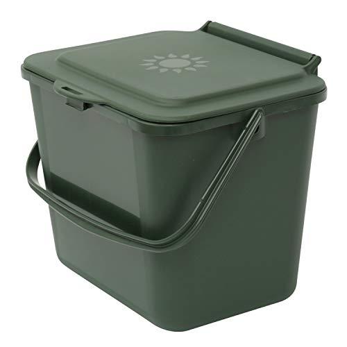 All-Green Cubo de Basura para Reciclaje de Alimentos, Color Verde, 5 litros 5 L