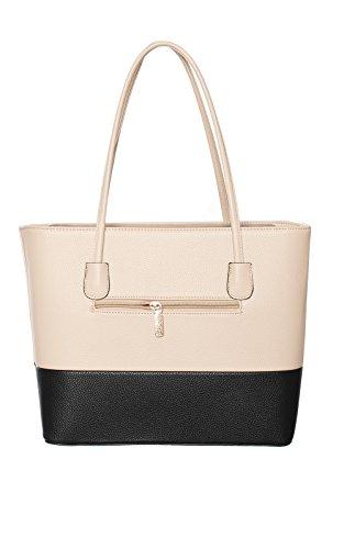Women's Ladies Stunning Faux Leather Diamante Glam Celeb Handbag Beige