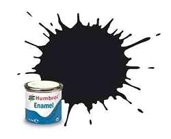 PACK OF 6 - Humbrol 14ml Gloss Black enamel paint # 21