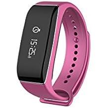 MyKronoz ZeFit2 Pulse - Pulsera de actividad y sueño con pulsómetro y notificaciones, color rosa
