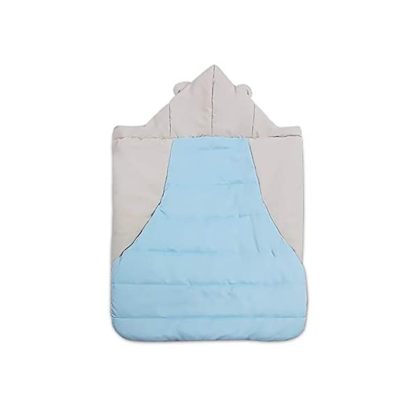 SONARIN All Seasons Weather Thick Cover for Baby Carrier,Cloak for Winter Warm,Fit Any Baby Carrier,Windproof,Waterproof(Blue) SONARIN Material:The designer carefully selects high-quality polyester, and the inside is made of cotton velvet, which is windproof and warm. Size: 60*58CM (23.6*22.8 inches). Applicable to All:Front or backpack carrier or hipseat carrier. This baby carrier cover is easily to snaps onto any baby carrier. It can also be used as a blanket, quilt with baby stroller. Quality and Design:The cloak has two openings that allow the baby's feet to stretch.The cover can be adjusted according to each baby's body shape.Big convenience pocket keeps parent's hands warm and it's roomy enough to easily keep the daily things such as cell-phones, keys and so on. 3