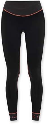KCA-LAB Damen hochtaillierte Nahtlose Anti-Rutsch-Kompressions-Fitness-Leggings gestrickter Stretch knöchellan