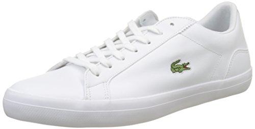 Lacoste Herren Lerond BL 1 CAM Sneaker, Weiß (White), 45 EU