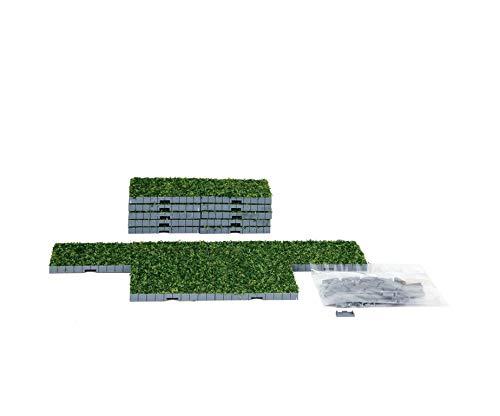 LEMAX STRADA CON ERBA - PLAZA SYSTEM GRASS 16 PEZZI COD 64107 VILLAGE PRESEPE
