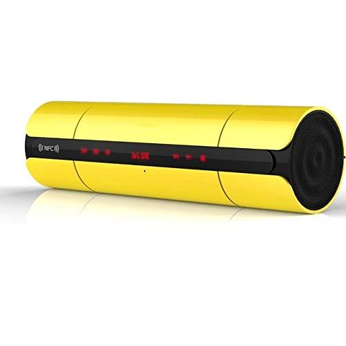 qiyanTouch NFC Altavoz Bluetooth Altavoz portátil estéreo inalámbrico de Alta fidelidad Altavoz Bajo Caixa De Som Caja de Sonido Subwoofer Amarillo