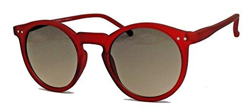 Retro Sonnenbrille im 50er 60er Jahre Vintage Stil Damen Herren Pantobrille runde Gläser V1554 (56...