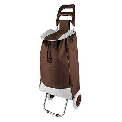 Einkaufstrolley Braun Treppensteiger Einkaufsroller Einkaufskorb mit Rädern klappbar
