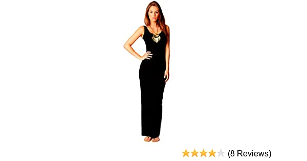 IDEAL ONLINE New Womens Plus Size Jersey Long Sleeve Maxi Dress Scoop Neck Stretch Maxi 8-26