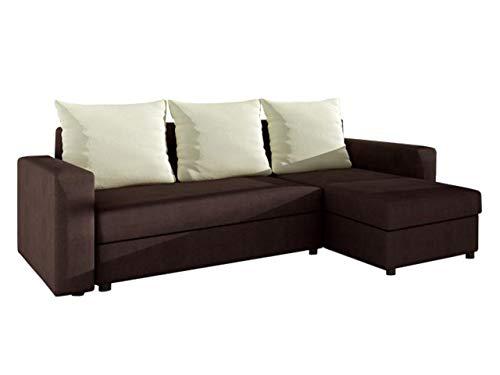 Mirjan24  Ecksofa Top! Sofa Eckcouch Couch! mit Schlaffunktion und Zwei Bettkasten! Ottomane Universal, L-Form Couch Schlafsofa Bettsofa Farbauswahl