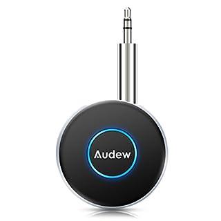 Audew B-luetooth Empfänger B-luetooth Adapter Transmitter 4.1 Mini Audio Musik Adapter Drahtloser mit Stereo 3.5 mm Aux Input für Handy,Lautsprecher,Auto-Player
