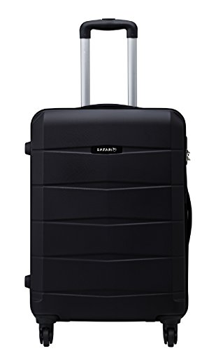 Safari Polycarbonate 77 cms Black Hard Sided Suitcase (REGLOSS ANTISCRATCH 4W 77 BLACK)