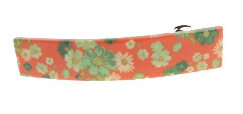 Damen Mädchen Retro Daisy Print Rechteck 8cm Haarspange Clip -
