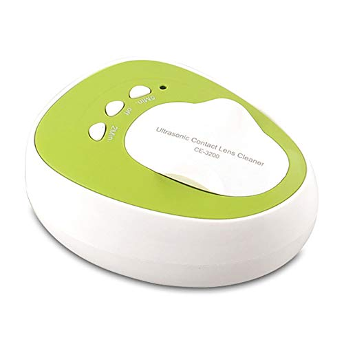 MUYIER Ultraschall-Kontaktlinsenreiniger, Professionelle Reinigung Kontaktlinsen Automatische Reinigungsmaschine Edelstahltank Mit Beauty Cleaning Box,EU