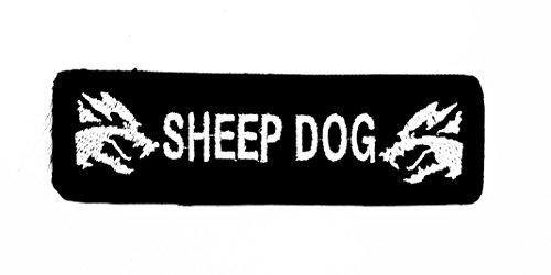 (Schwarz Schaf Hund Wolfskopf-Motiv Patch Hand bestickt und Bügelbild Symbol Jacke T-Shirt patches aufnäher Zubehör)