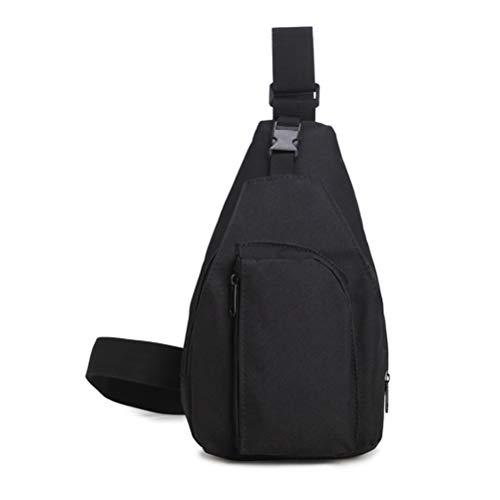 TENDYCOCO Schultertasche Outdoor Sports Brusttasche Nylon Einzelner Schulterbeutel für Männer (Schwarz)