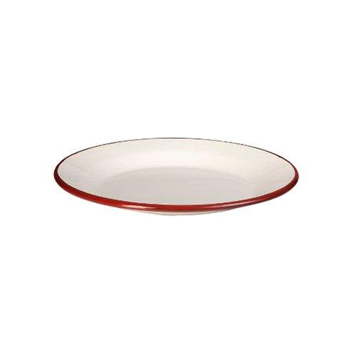 IBILI 908122 Assiette Plate, Papier, Blanc/Rouge, 22 x 22 x 2 cm