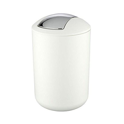 WENKO 21207100 Kosmetikeimer Brasil Weiß - absolut bruchsicher, Fassungsvermögen 6.5 L,...