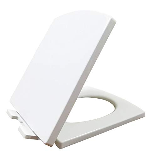 Ultra PP Antibakterielle Quick Release Soft Quiet Close-Toilettensitz mit Absenkautomatik Softclose Scharniere weiß inkl. Quick Fixing Verstellbare Scharniere Oben Befestigung