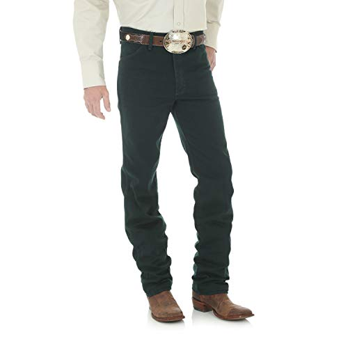 Wrangler Men's Cowboy Cut Slim Fit Jean, Black Mesquite, 36Wx36L -